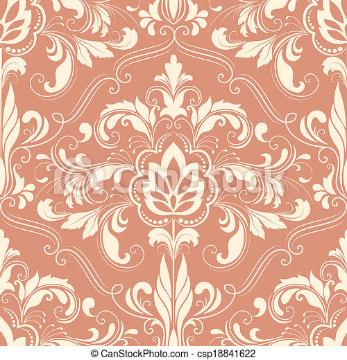 Damask seamless pattern element - csp18841622