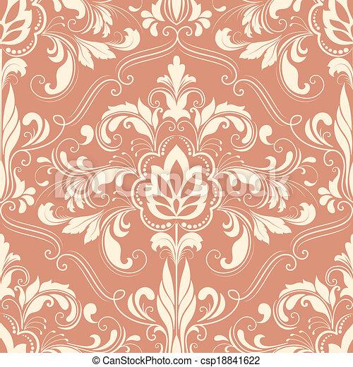 Damask seamless pattern element - csp18841622