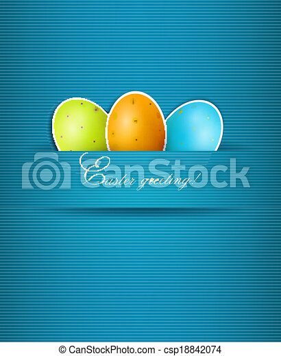 Easter background with eggs. Vector. - csp18842074