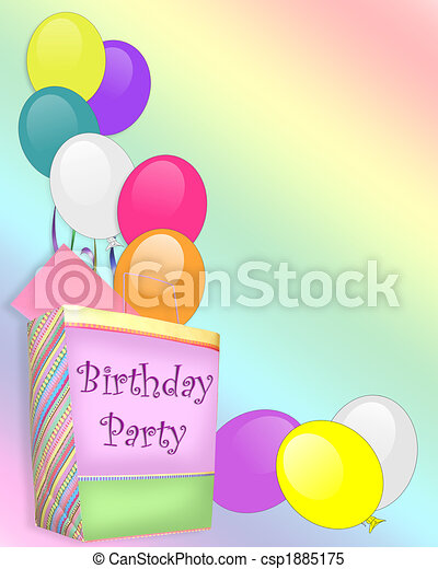 Birthday Party Invitation background - csp1885175
