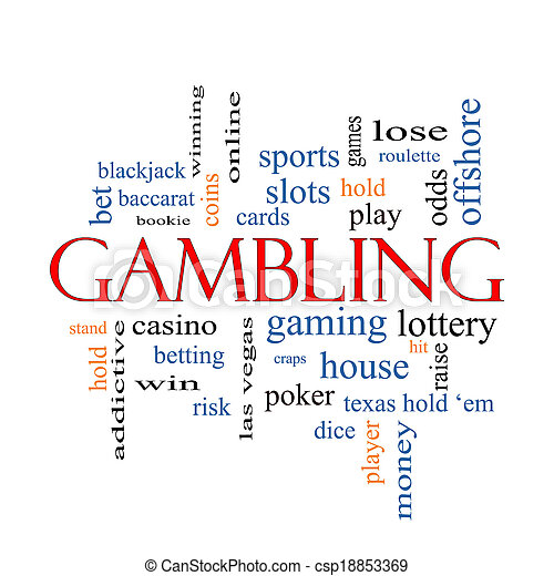 Gambling Word Cloud Concept - csp18853369