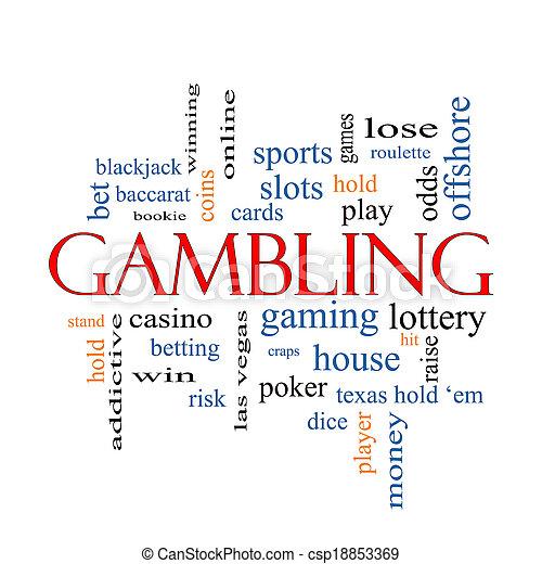Gambling Word Cloud Concept - csp18853369