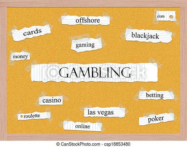 Gambling Corkboard Word Concept - csp18853480