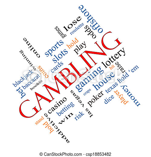 Gambling Word Cloud Concept Angled - csp18853482
