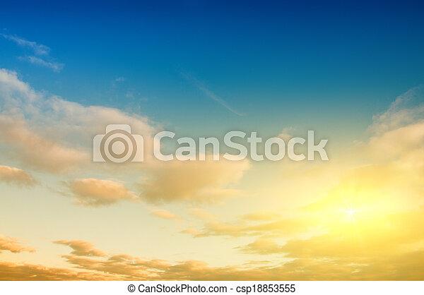 cielo, salida del sol, Plano de fondo - csp18853555
