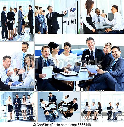 modernos, reunião,  businesspeople, escritório, tendo - csp18856448