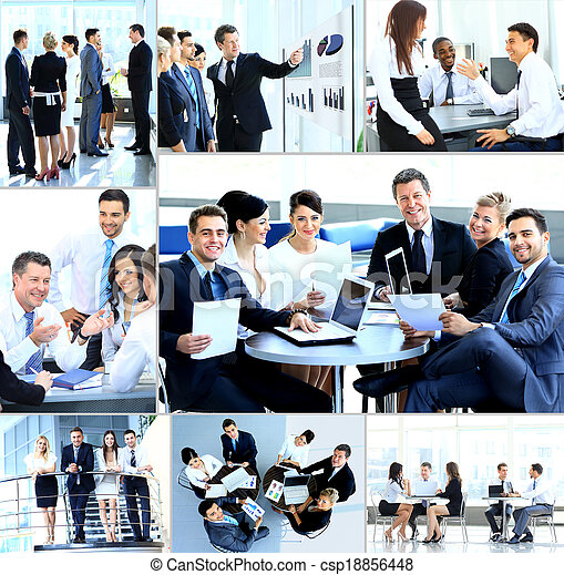moderne, réunion,  businesspeople, bureau, avoir - csp18856448