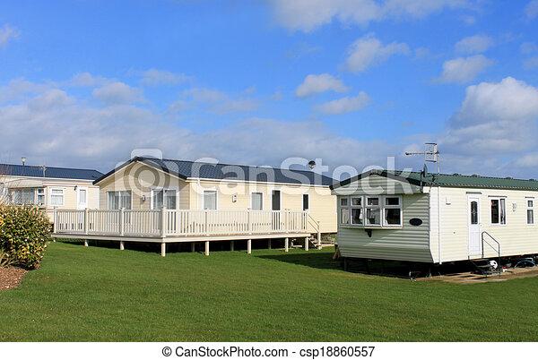 Modern trailer or caravan park - csp18860557