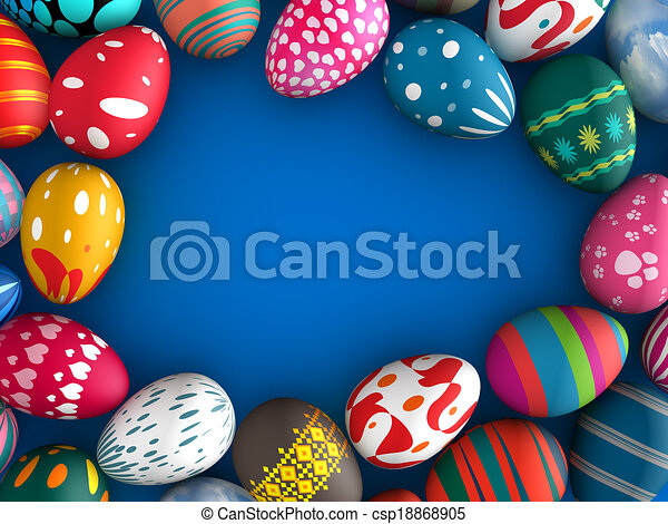 Easter eggs - csp18868905