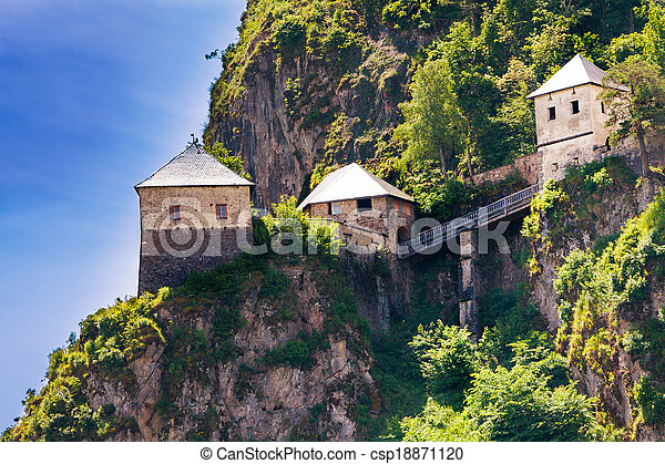 Bridges and towers of Hochosterwitz castle in Austria - csp18871120