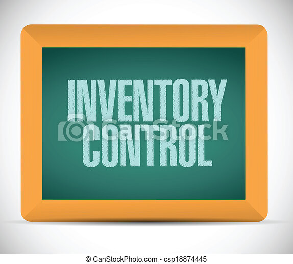 inventory control message on a chalkboard. illustration design over a ...