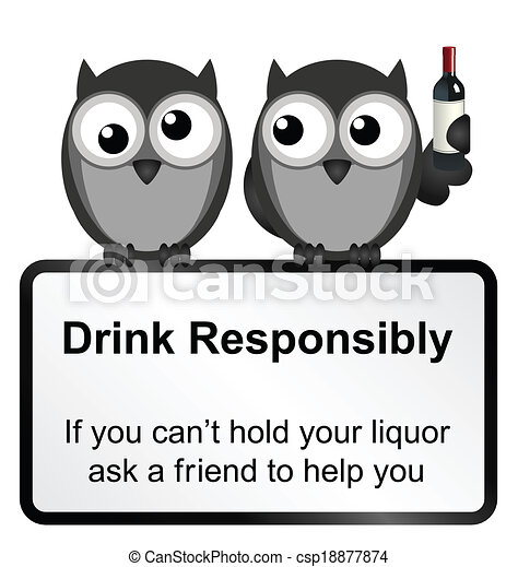 Drink Responsibly Vector Logo Free