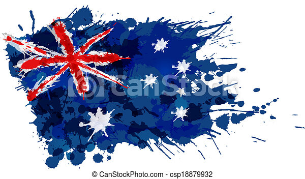 Australian Made Vector Australian Flag Made of