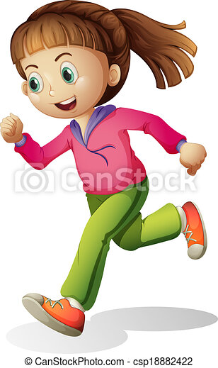 A young lady jogging - csp18882422