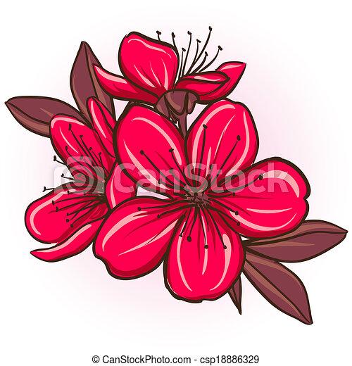 Plum blossom - csp18886329