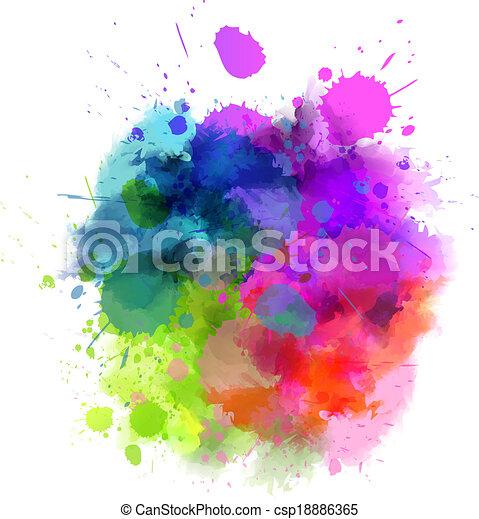 Multicolored blot - csp18886365