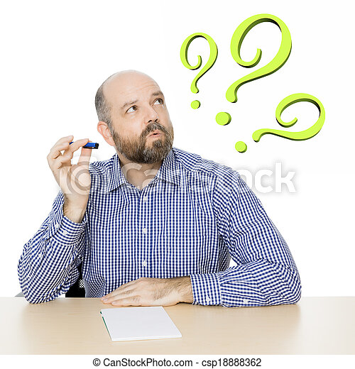 man with question mark - csp18888362