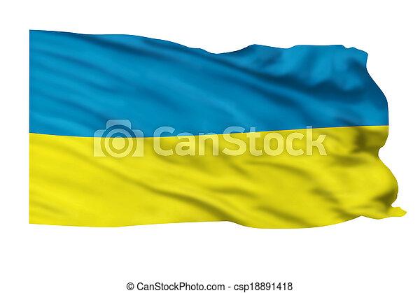 Ukraine Flag. - csp18891418
