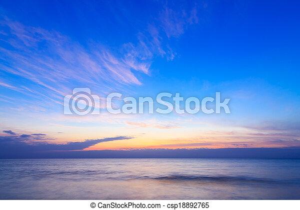Sunrise over ocean,Thailand. - csp18892765