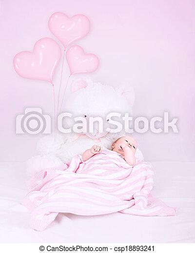 Little baby in bedroom