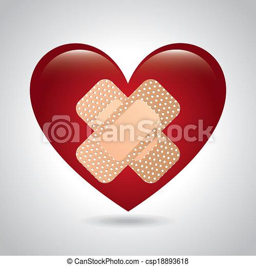 medical heart design  - csp18893618