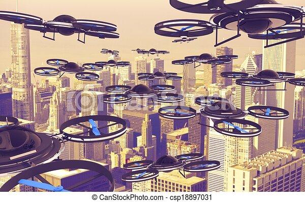 Drones Invasion - csp18897031