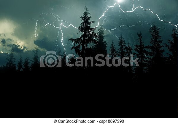 stock photographs of stormy night background lightnings