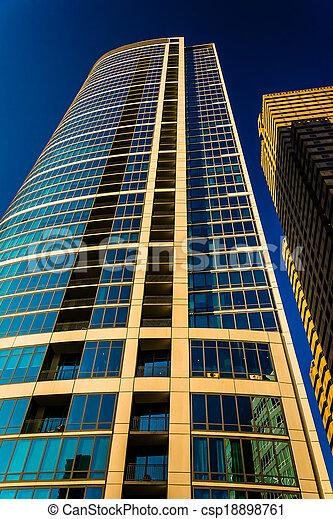 Tall apartment building in Center City, Philadelphia, Pennsylvania. - csp18898761