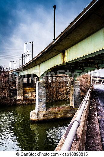 Bridges over the Schuylkill River in Philadelphia, Pennsylvania. - csp18898815