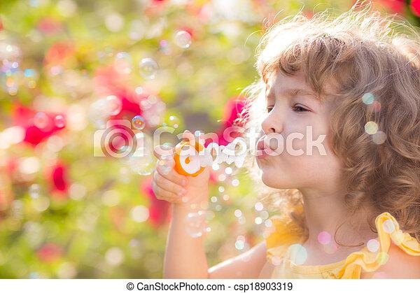 primavera, criança - csp18903319