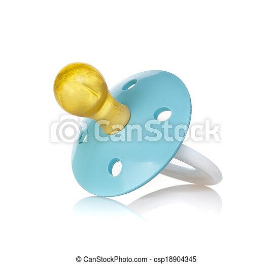 Blue baby's pacifier - csp18904345