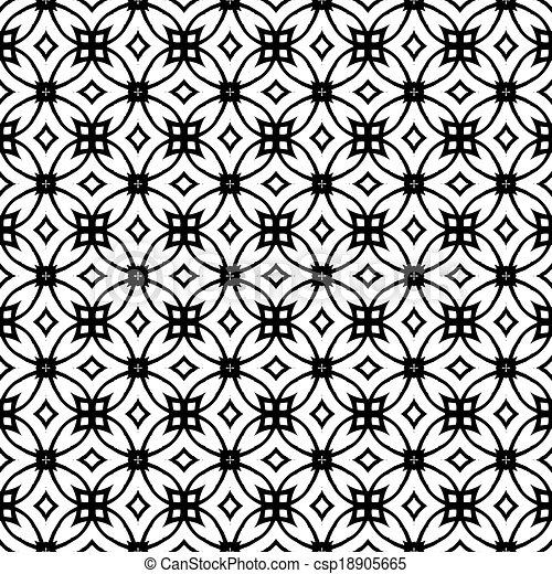 Vector geometric art deco pattern - csp18905665
