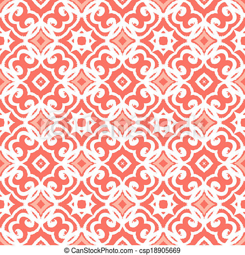 Vector art deco pattern with lacing shapes - csp18905669