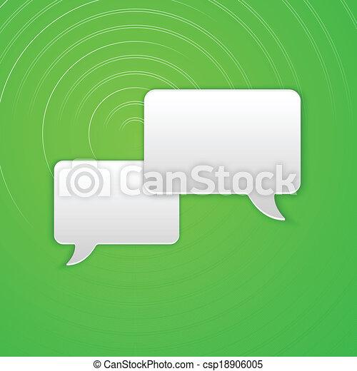 Paper Cut Speech Bubble Background. Vector Illustration - csp18906005