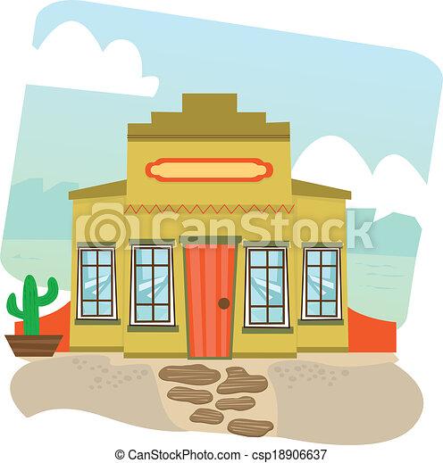 Vectors Of Mexican Restaurant Cartoon Illustration Of A