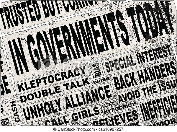 Government Headlines - csp18907257