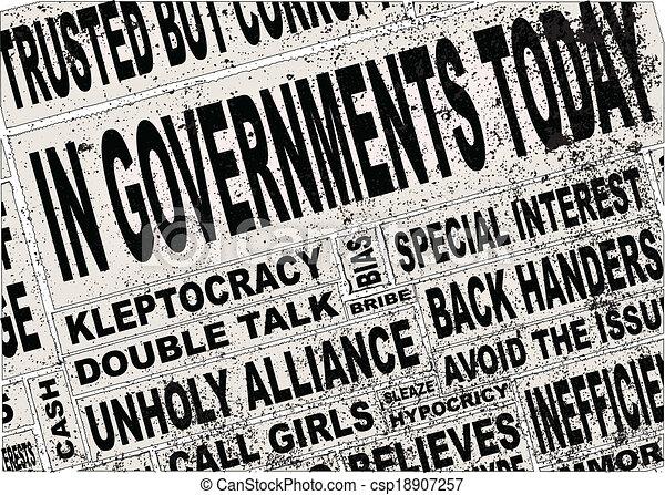 Government Headlines - csp18907257