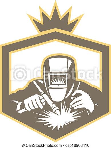 vector clip art of welder fabricator welding torch shield welding clip art free welding clip art black and white