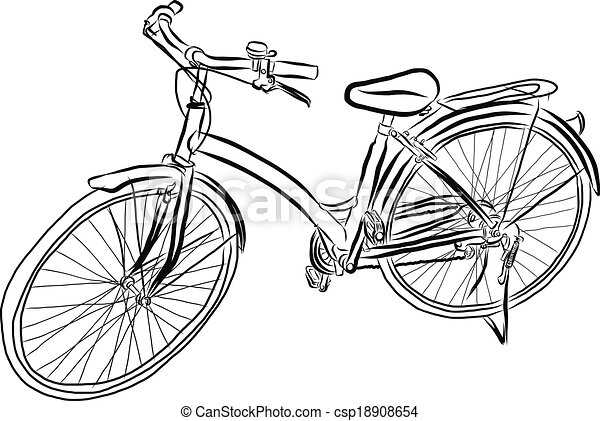 clipart vektor von skizze vektor fahrrad frei hand vektor abbildung csp18908654. Black Bedroom Furniture Sets. Home Design Ideas