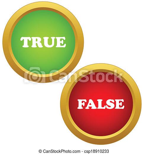 True and false icons - csp18910233