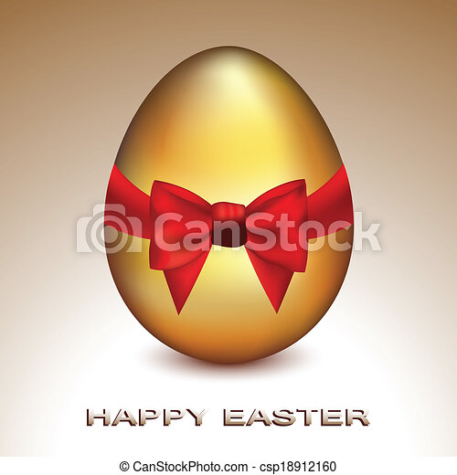 Golden Easter Egg - csp18912160