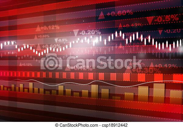 World economics graph. Stock market chart. Finance concept - csp18912442