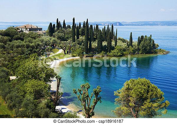 Garda lake resort in Italy - csp18916187