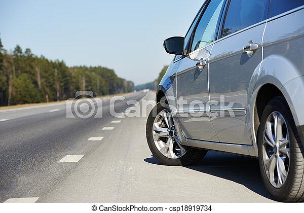 car automobile at highway - csp18919734