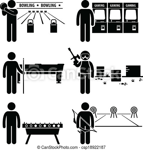 Vector Of Recreational Leisure Games Clipart A Set Of