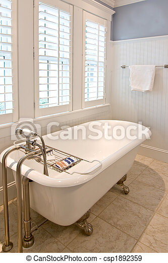 bathroom with clawfoot tub - csp1892359