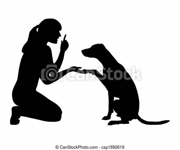 Dog Training (obedience): Command: paw - csp1892619
