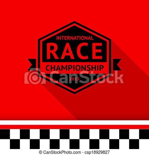 Racing stamp-06 - csp18929827