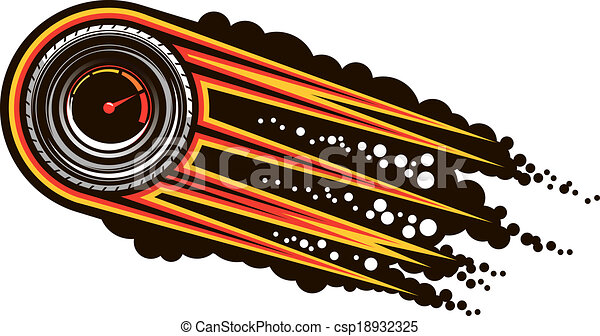 Red hot speeding motorsports icon