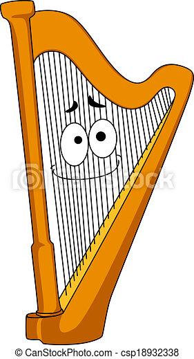 Vecteurs De Bois Classique Harpe Classique Bois